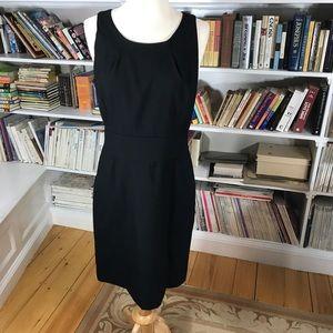 J. Crew Super 120 Black Wool Dress size 6